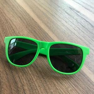 Green Wayfarer Hi-Chew Sunglasses